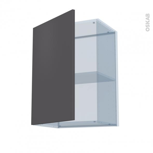 GINKO Gris - Kit Rénovation 18 - Meuble haut ouvrant H70  - 1 porte - L50xH70xP37,5