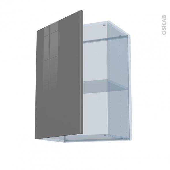 STECIA Gris - Kit Rénovation 18 - Meuble haut ouvrant H70  - 1 porte - L50xH70xP37,5
