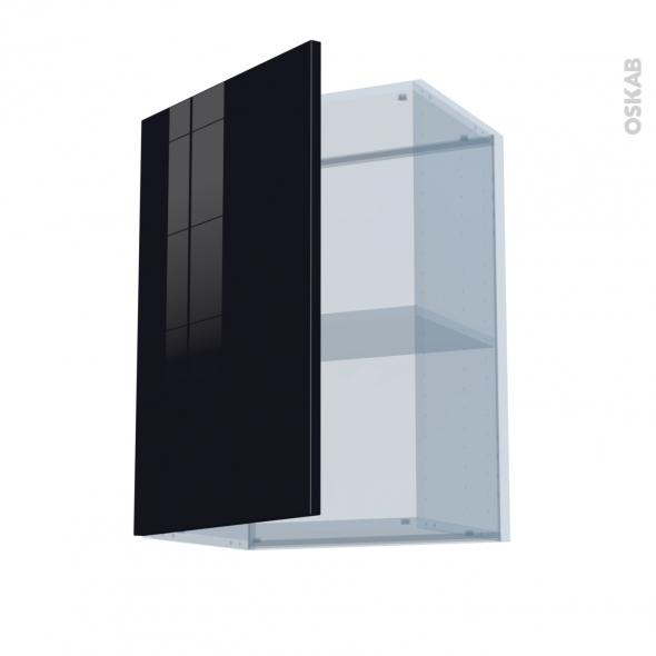 KERIA Noir - Kit Rénovation 18 - Meuble haut ouvrant H70  - 1 porte - L50xH70xP37,5