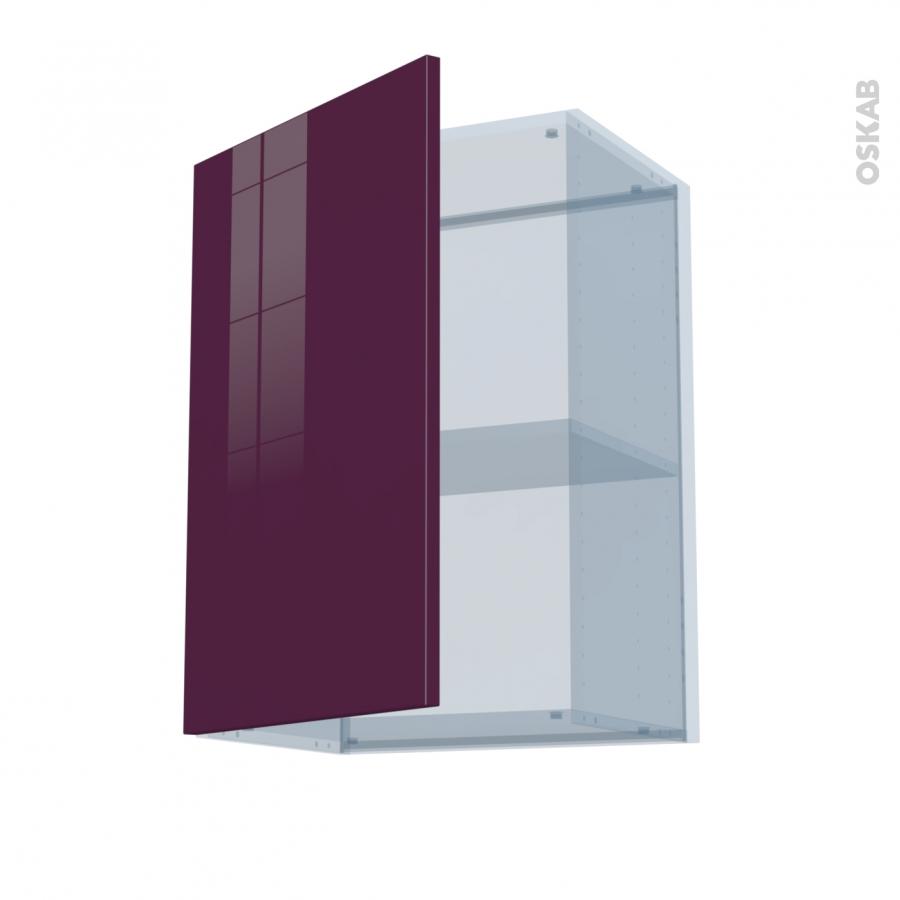 Keria aubergine kit r novation 18 meuble haut ouvrant h70 1 porte l50xh70xp37 5 oskab - Kit renovation porte ...