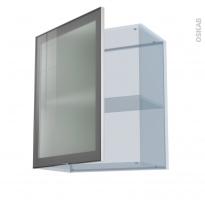 SOKLEO - Façade alu vitrée - Kit Rénovation 18 - Meuble haut ouvrant H70  - 1 porte - L60xH70xP37,5