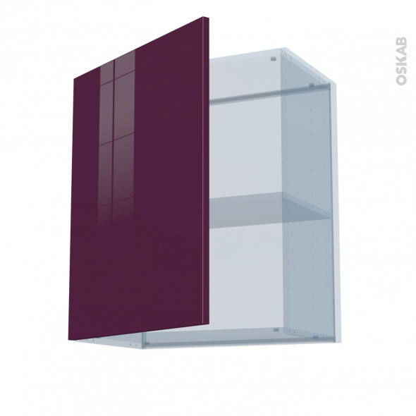 KERIA Aubergine - Kit Rénovation 18 - Meuble haut ouvrant H70  - 1 porte - L60xH70xP37,5