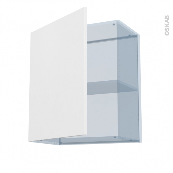GINKO Blanc - Kit Rénovation 18 - Meuble haut ouvrant H70 - 1 porte - L60xH70xP37,5