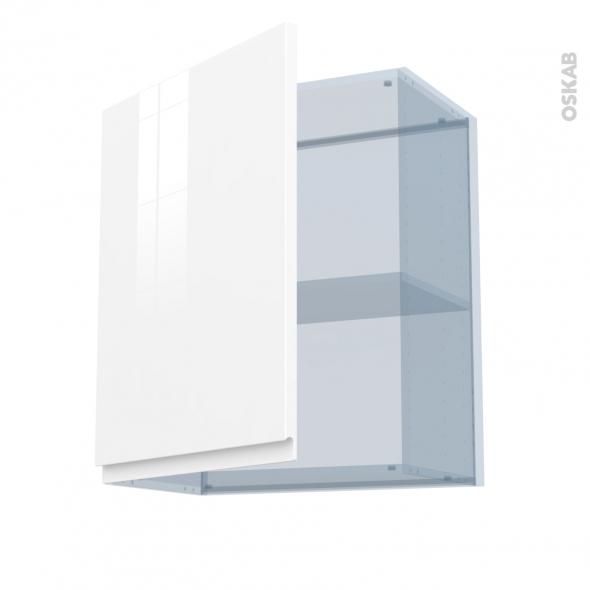 IPOMA Blanc - Kit Rénovation 18 - Meuble haut ouvrant H70  - 1 porte - L60xH70xP37,5