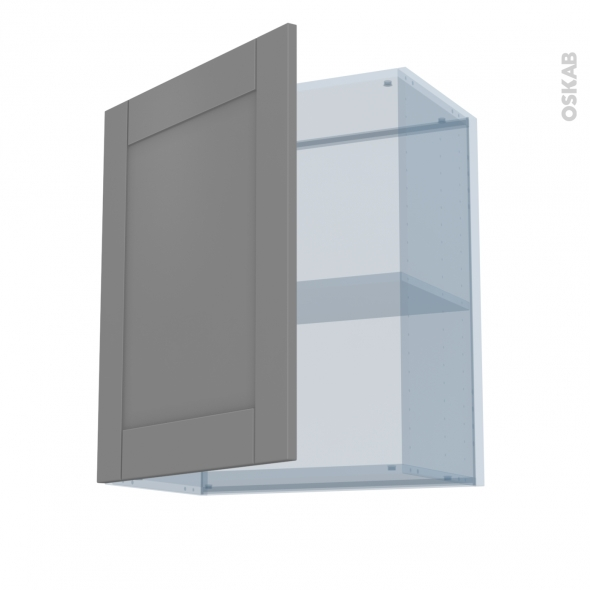 FILIPEN Gris - Kit Rénovation 18 - Meuble haut ouvrant H70  - 1 porte - L60xH70xP37,5