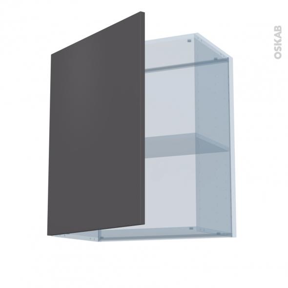 GINKO Gris - Kit Rénovation 18 - Meuble haut ouvrant H70  - 1 porte - L60xH70xP37,5