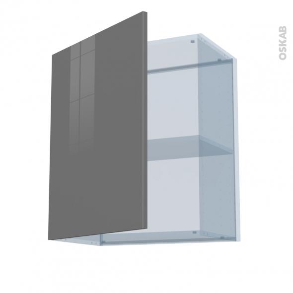 STECIA Gris - Kit Rénovation 18 - Meuble haut ouvrant H70  - 1 porte - L60xH70xP37,5