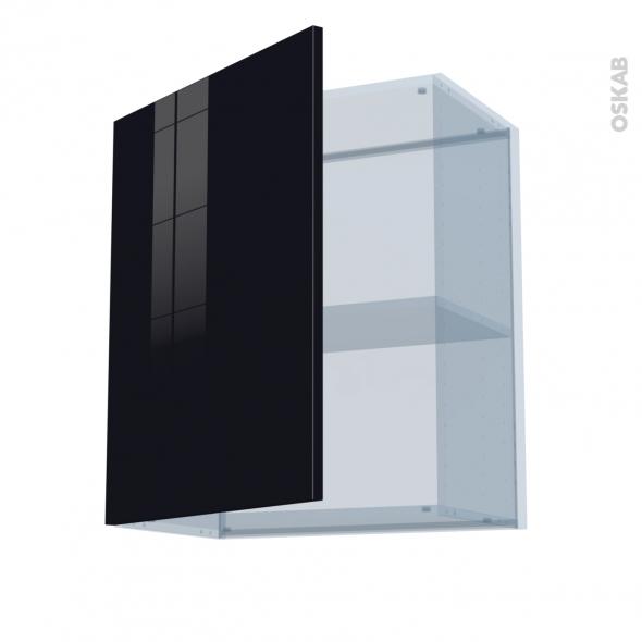 KERIA Noir - Kit Rénovation 18 - Meuble haut ouvrant H70  - 1 porte - L60xH70xP37,5