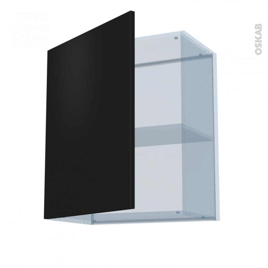Ginko noir kit r novation 18 meuble haut ouvrant h70 1 for Porte cuisine 30 x 60
