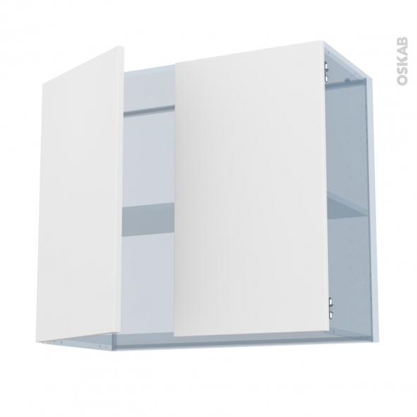 GINKO Blanc - Kit Rénovation 18 - Meuble haut ouvrant H70 - 2 portes - L80xH70xP37,5