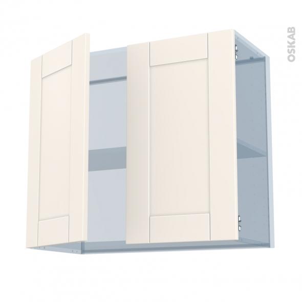 FILIPEN Ivoire - Kit Rénovation 18 - Meuble haut ouvrant H70  - 2 portes - L80xH70xP37,5