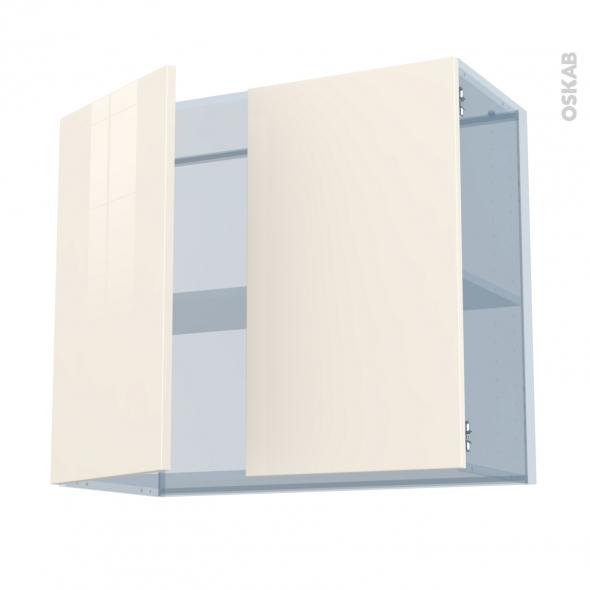KERIA Ivoire - Kit Rénovation 18 - Meuble haut ouvrant H70  - 2 portes - L80xH70xP37,5