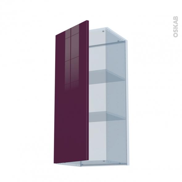 KERIA Aubergine - Kit Rénovation 18 - Meuble haut ouvrant H92  - 1 porte - L40xH92xP37,5