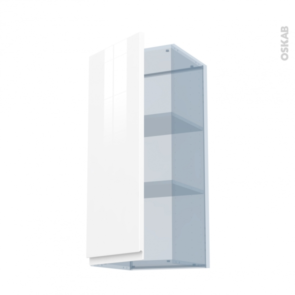 IPOMA Blanc - Kit Rénovation 18 - Meuble haut ouvrant H92  - 1 porte - L40xH92xP37,5