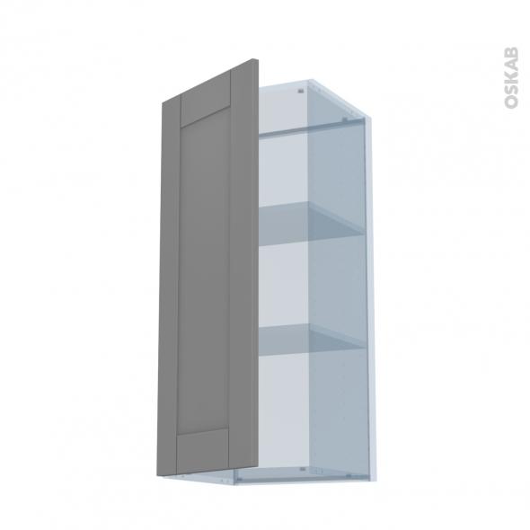 FILIPEN Gris - Kit Rénovation 18 - Meuble haut ouvrant H92  - 1 porte - L40xH92xP37,5