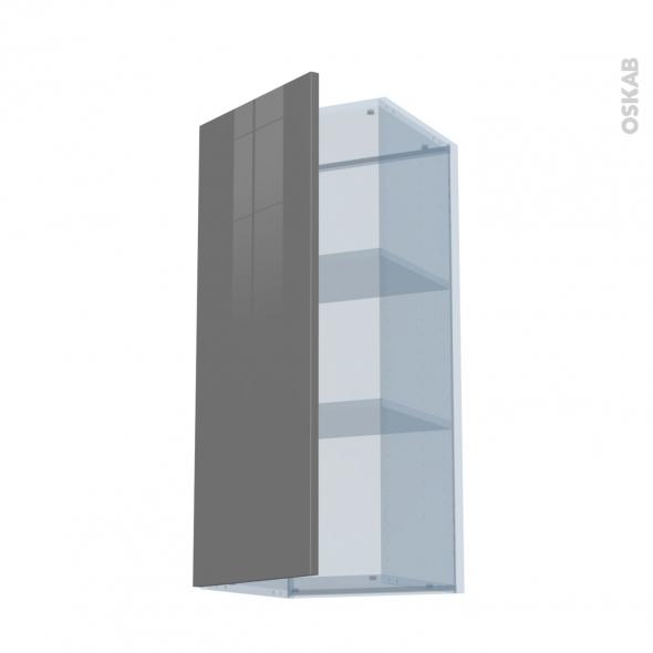 STECIA Gris - Kit Rénovation 18 - Meuble haut ouvrant H92  - 1 porte - L40xH92xP37,5