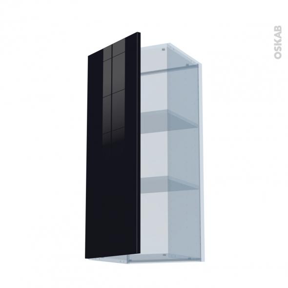 KERIA Noir - Kit Rénovation 18 - Meuble haut ouvrant H92  - 1 porte - L40xH92xP37,5