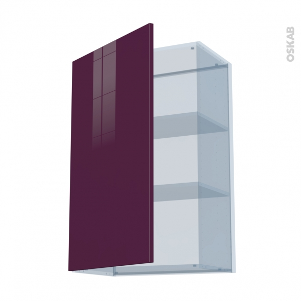 KERIA Aubergine - Kit Rénovation 18 - Meuble haut ouvrant H92  - 1 porte - L60xH92xP37,5