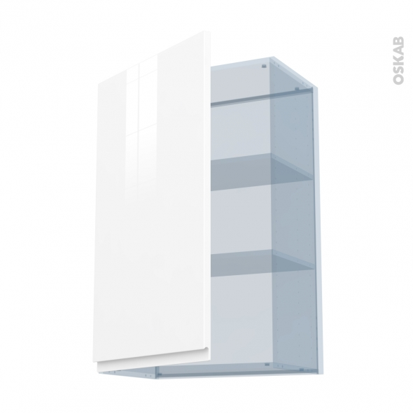 IPOMA Blanc brillant - Kit Rénovation 18 - Meuble haut ouvrant H92  - 1 porte - L60xH92xP37,5