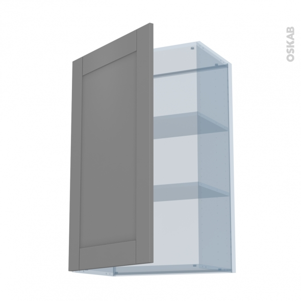 FILIPEN Gris - Kit Rénovation 18 - Meuble haut ouvrant H92  - 1 porte - L60xH92xP37,5