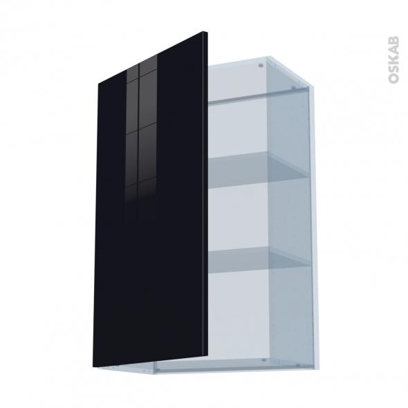 KERIA Noir - Kit Rénovation 18 - Meuble haut ouvrant H92  - 1 porte - L60xH92xP37,5