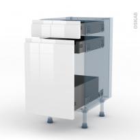 IPOMA Blanc - Kit Rénovation 18 - Meuble range épice - 3 tiroirs - L40xH70xP60