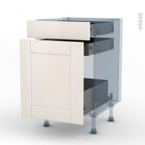 FILIPEN Ivoire - Kit Rénovation 18 - Meuble range épice - 3 tiroirs - L50xH70xP60