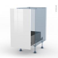 STECIA Blanc - Kit Rénovation 18 - Meuble sous-évier  - 1 porte coulissante - L40xH70xP60