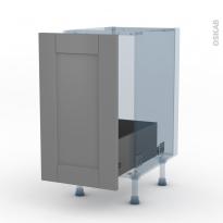 FILIPEN Gris - Kit Rénovation 18 - Meuble sous-évier  - 1 porte coulissante - L40xH70xP60