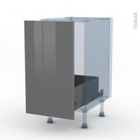 STECIA Gris - Kit Rénovation 18 - Meuble sous-évier  - 1 porte coulissante - L40xH70xP60