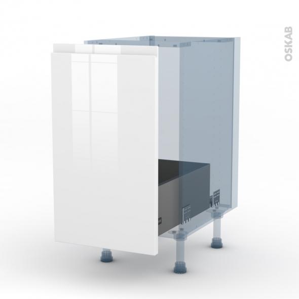 ipoma blanc brillant kit r novation 18 meuble sous vier 1 porte coulissante l40xh70xp60 oskab. Black Bedroom Furniture Sets. Home Design Ideas