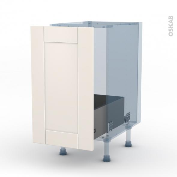 FILIPEN Ivoire - Kit Rénovation 18 - Meuble sous-évier  - 1 porte coulissante - L40xH70xP60