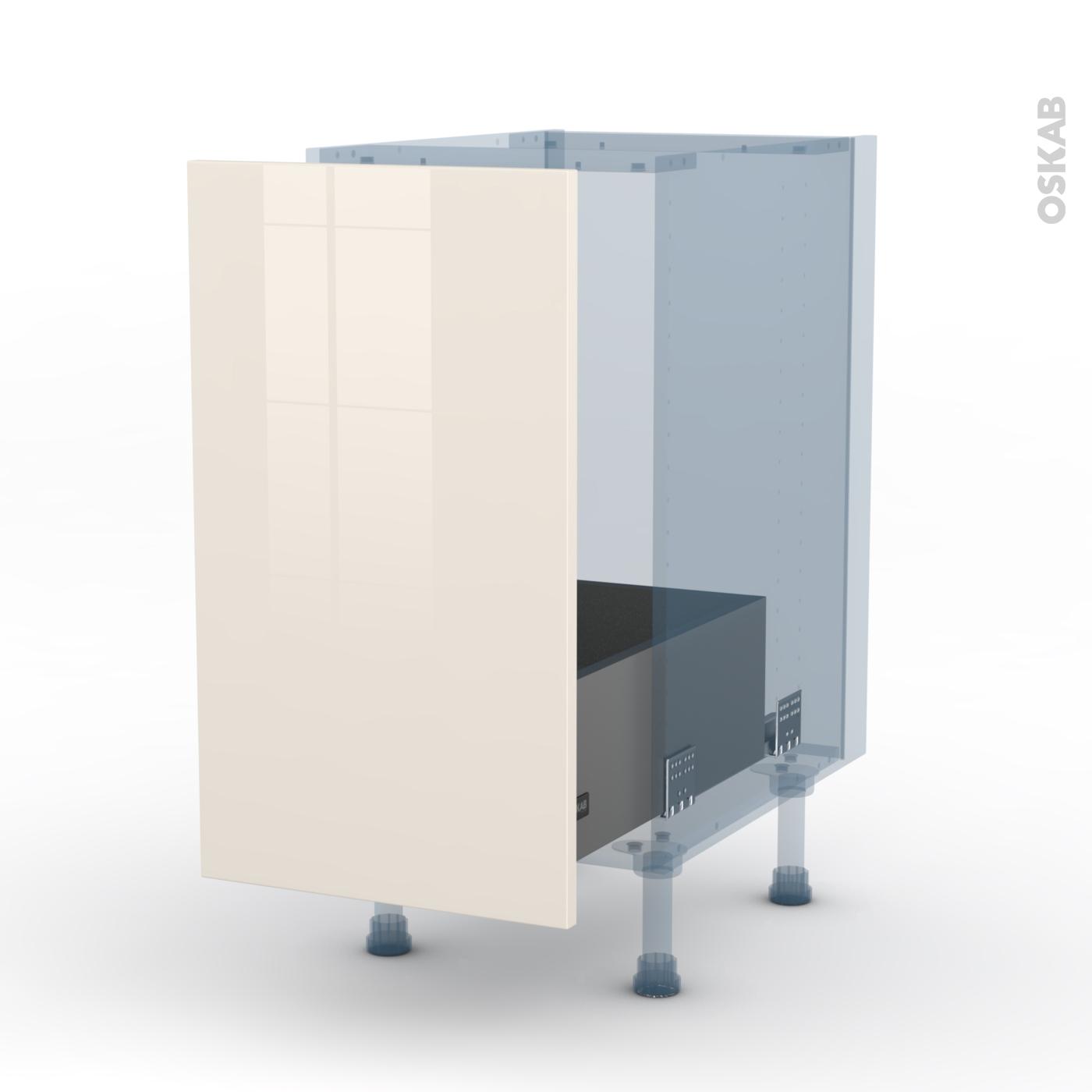 Table Coulissante Sous Plan De Travail keria ivoire kit rénovation 18 meuble sous-évier , 1 porte coulissante,  l40xh70xp60