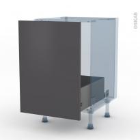GINKO Gris - Kit Rénovation 18 - Meuble sous-évier  - 1 porte coulissante - L50xH70xP60