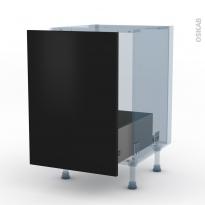 GINKO Noir - Kit Rénovation 18 - Meuble sous-évier  - 1 porte coulissante - L50xH70xP60