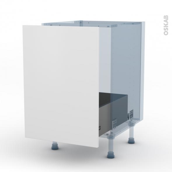 GINKO Blanc - Kit Rénovation 18 - Meuble sous-évier - 1 porte coulissante - L50xH70xP60