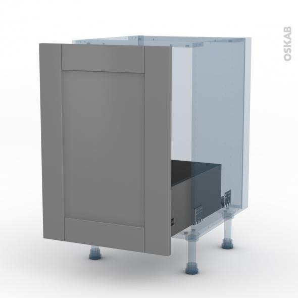 FILIPEN Gris - Kit Rénovation 18 - Meuble sous-évier  - 1 porte coulissante - L50xH70xP60