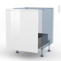 IPOMA Blanc brillant - Kit Rénovation 18 - Meuble sous-évier  - 1 porte coulissante - L60xH70xP60