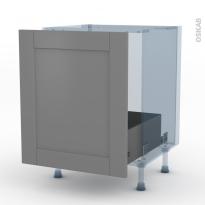 FILIPEN Gris - Kit Rénovation 18 - Meuble sous-évier  - 1 porte coulissante - L60xH70xP60