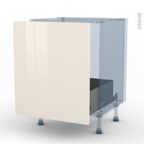 KERIA Ivoire - Kit Rénovation 18 - Meuble sous-évier  - 1 porte coulissante - L60xH70xP60