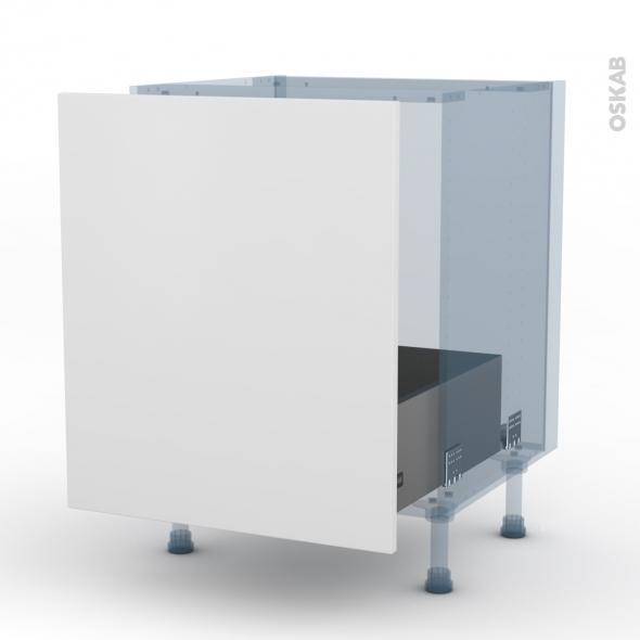 GINKO Blanc - Kit Rénovation 18 - Meuble sous-évier - 1 porte coulissante - L60xH70xP60