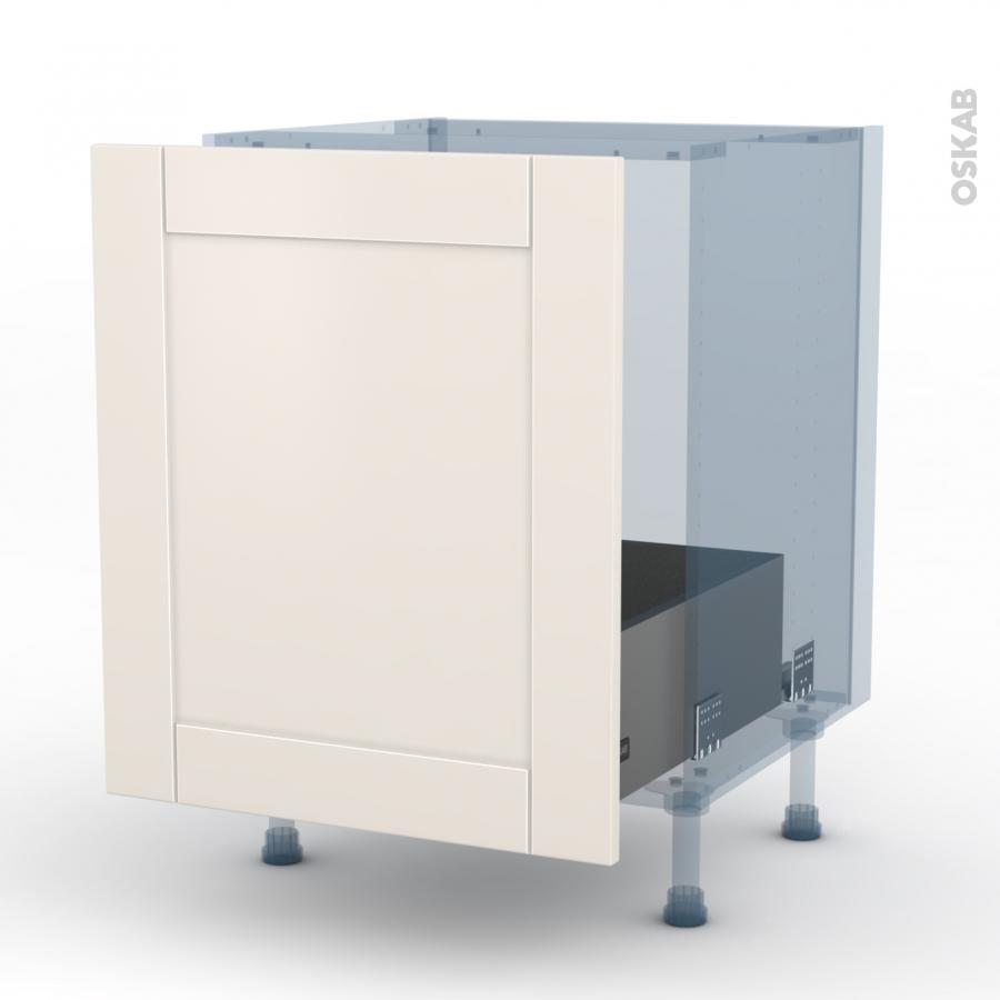 Filipen ivoire kit r novation 18 meuble sous vier 1 porte for Meuble cuisine porte coulissante