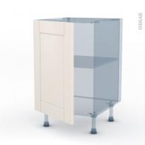 FILIPEN Ivoire - Kit Rénovation 18 - Meuble sous-évier  - 1 porte - L50xH70xP60