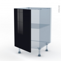 KERIA Noir - Kit Rénovation 18 - Meuble sous-évier  - 1 porte - L50xH70xP60