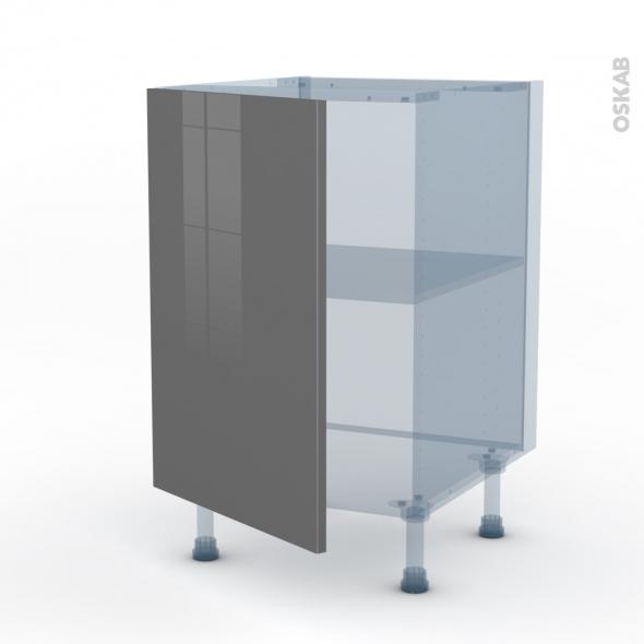 STECIA Gris - Kit Rénovation 18 - Meuble sous-évier  - 1 porte - L50xH70xP60