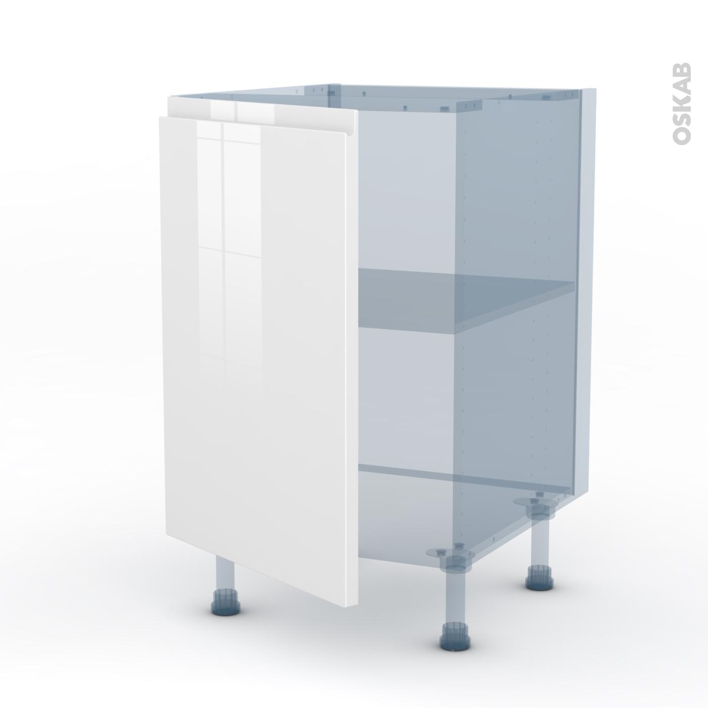 Meuble Sous Evier Ancien ipoma blanc brillant kit rénovation 18 meuble sous-évier , 1 porte,  l50xh70xp60