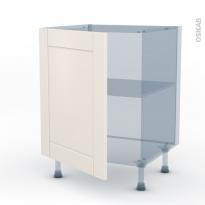 FILIPEN Ivoire - Kit Rénovation 18 - Meuble sous-évier  - 1 porte - L60xH70xP60