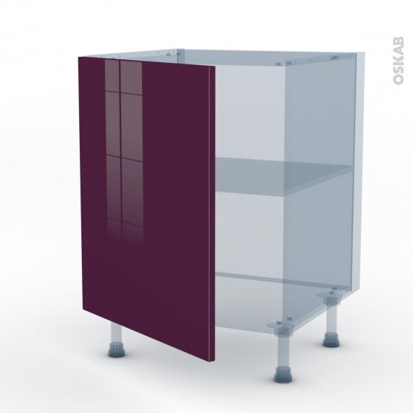 KERIA Aubergine - Kit Rénovation 18 - Meuble sous-évier  - 1 porte - L60xH70xP60