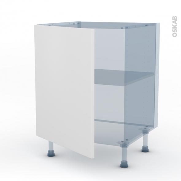 GINKO Blanc - Kit Rénovation 18 - Meuble sous-évier - 1 porte - L60xH70xP60
