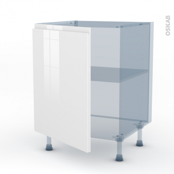 IPOMA Blanc - Kit Rénovation 18 - Meuble sous-évier  - 1 porte - L60xH70xP60